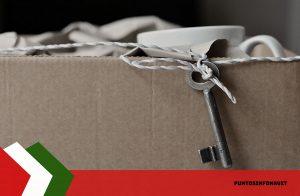 caja con llave para mudanza