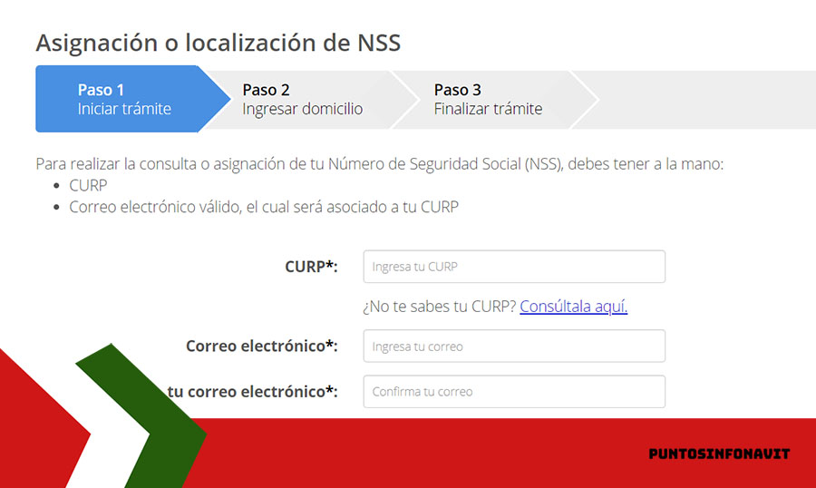 formulario datos nss Infonavit