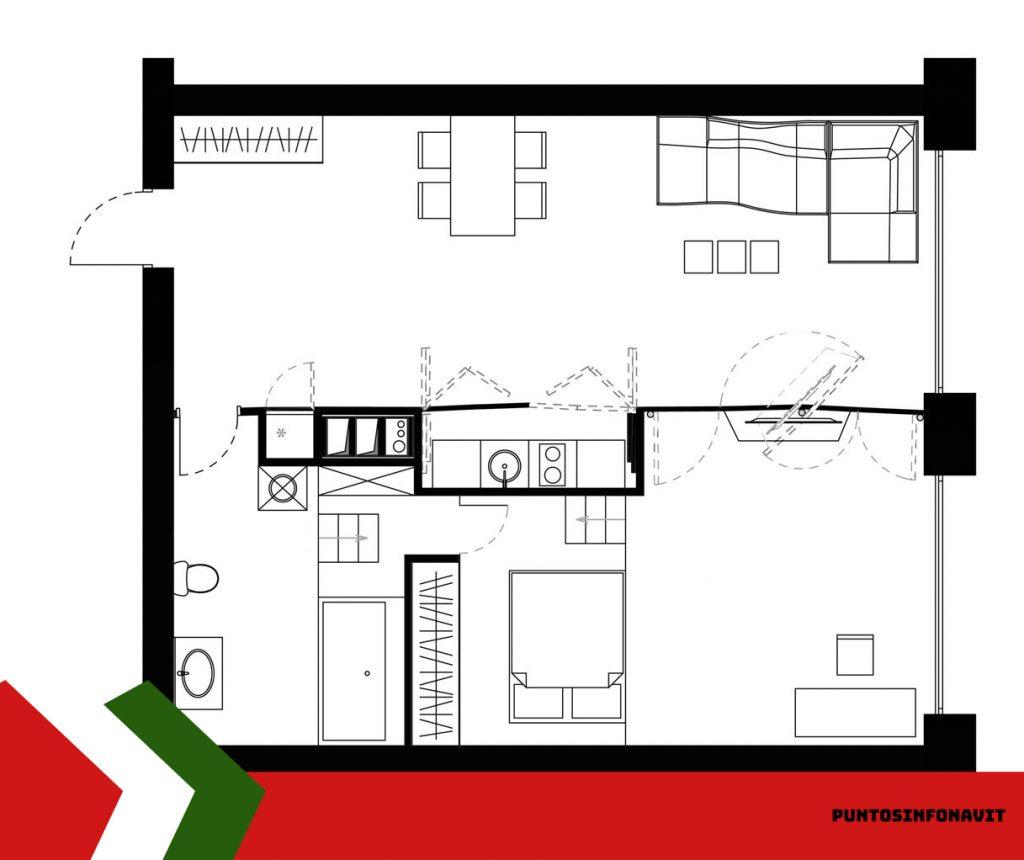 plano de casa infonavit